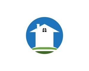 Buiding home logo template