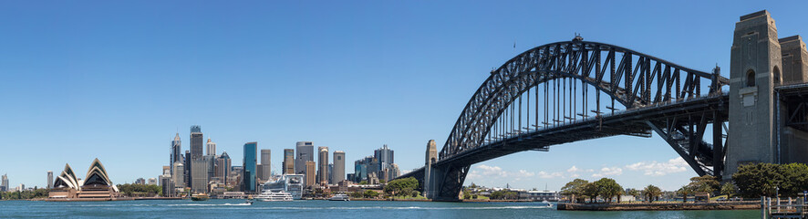 Deurstickers Sydney Panoramic view of Sydney skyline and harbour, Sydney, New South Wales, Australia