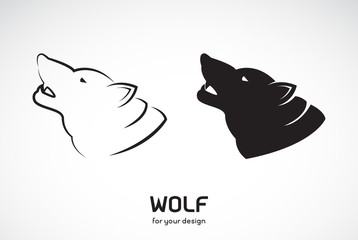 Vector of wolf head design on white background, Wild Animals, Vector illustration. Easy editable layered vector illustration.