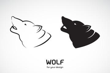Vector of wolf head design on white background, Wild Animals, Vector illustration. Easy editable layered vector illustration.