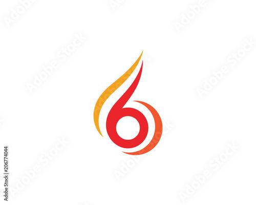 fire flame logo template vector fotolia com の ストック画像と