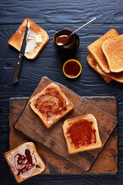 aussie toasts with butter and marmite