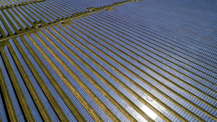 Aerial view of solar battery.