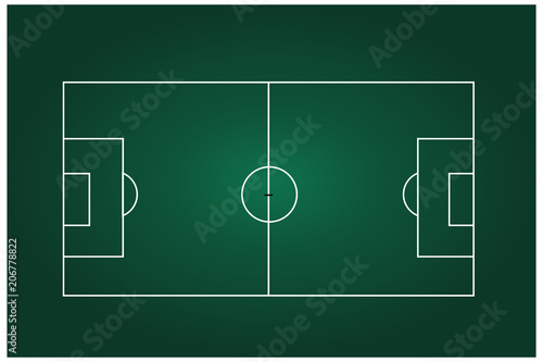 Soccer Or Football Field With Team Formation 3D Starting Line Up Broadcast Graphics For Vector Illustration Stock Image And Royalty Free