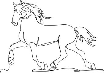 horse. one line