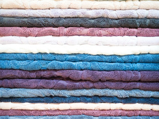 colorful terry towels twisted stripes. Horizontal picture