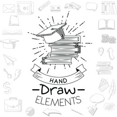 Business hand draw cartoon