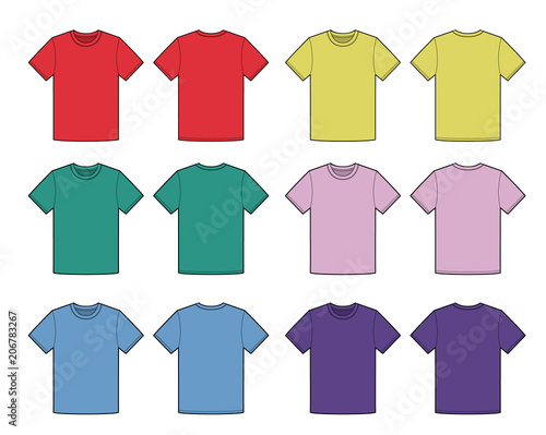 T Shirt Top Tee Fashion Flat Template Stock Image And Royalty Free