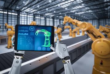 cyborg control robot arm