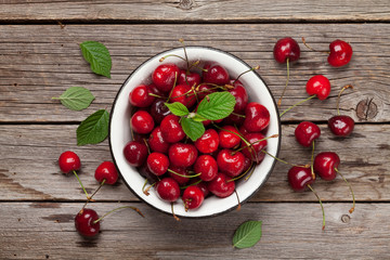 Fresh summer cherry