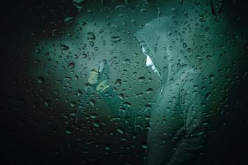 Thieves in shadows at the rain.