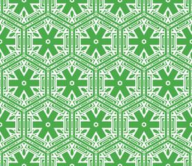 creative geometric ornament on color background. Seamless vector illustration. For interior design, wallpaper, invitation