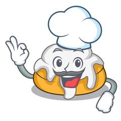 Chef cinnamon roll character cartoon