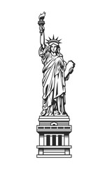 Vintage Statue of Liberty template