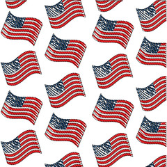 united states of america flag independence day background vector illustration