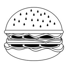 fast food unhealthy hamburger image vector illustration