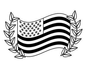 american flag national memorial emblem vector illustration