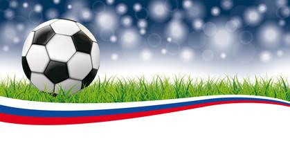 Football Grass Flash Bokeh Header Russia