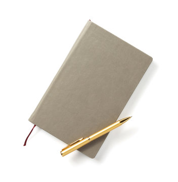 notebook isolated at white