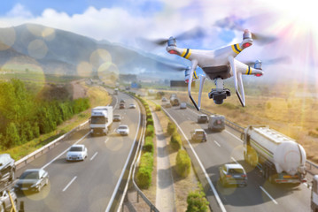Concept of use of drones for the surveillance
