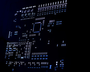abstract pcb light