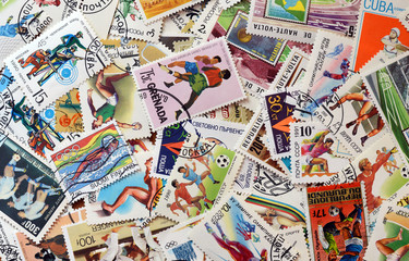 Postage stamps sport