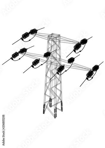 Overhead Power Line Architect Blueprint