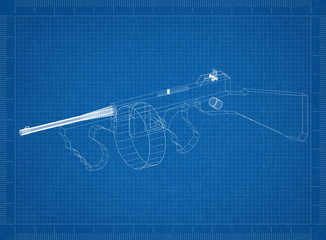 Classic Machine Gun Architect blueprint