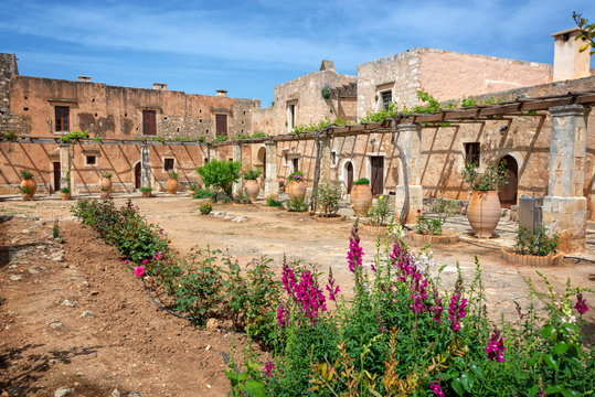 Ancient monastery of Arkadi, Crete, Greece