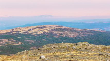 Mountains over the valley Innerdalen, rennebu district, Norway