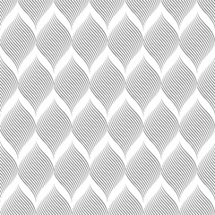 Black and white abstract simple checker striped geometric seamless pattern, vector