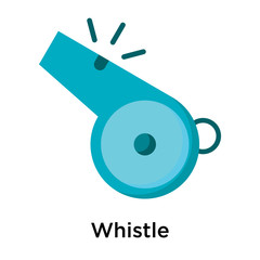 Whistle icon vector sign and symbol isolated on white background