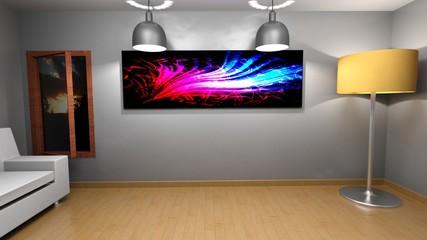 Living room sample - 3D rendering