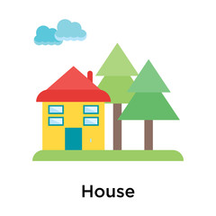 House icon vector sign and symbol isolated on white background