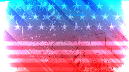 Independence Day of USA vector background.