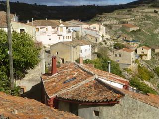 Pelegrina, pueblo de Sigüenza, en la provincia de Guadalajara (Castilla la Mancha, España) situado junto al parque natural del Barranco del Río Dulce