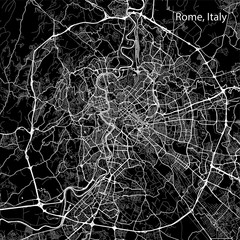 Area map of Rome, Italy