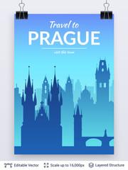 Prague famous city scape.