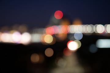 Bokeh background of city lights
