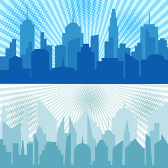 Comic city horizontal banners
