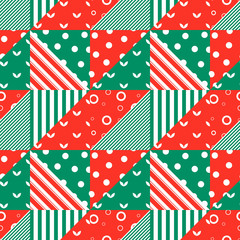Seamless pattern with geometric ornament