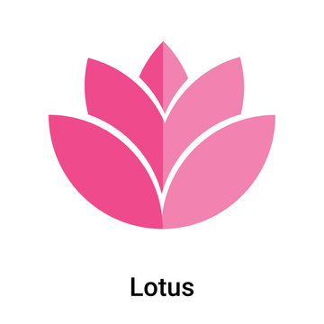 Lotus icon vector sign and symbol isolated on white background