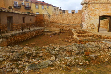 Monasterio Cisterciense en Santa María de Huerta, pueblo de Soria, en la Comunidad Autónoma de Castilla y León (España)