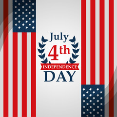 american independence day 4 july nation patriotism vector illustration