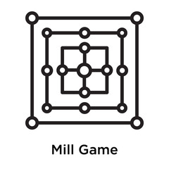 Mill Game icon vector sign and symbol isolated on white background