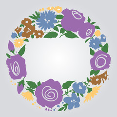 Fototapete - Floral frame with space for text