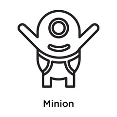 Minion icon vector sign and symbol isolated on white background