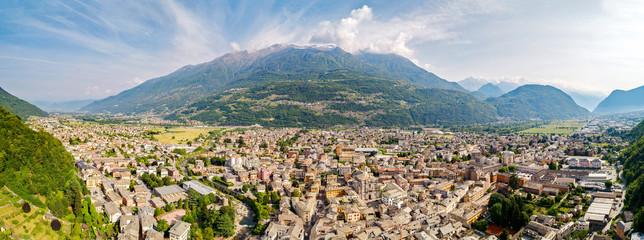 Morbegno - Valtellina (IT) - Vista aerea panoramica