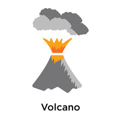 Volcano icon vector sign and symbol isolated on white background