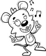 Cartoon Female Mouse Dancing